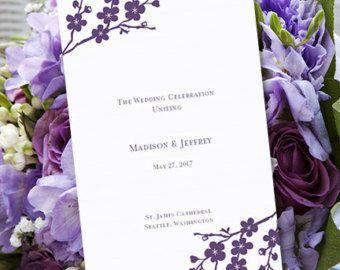 1000 images about wedding program on pinterest wedding for Avery wedding program templates