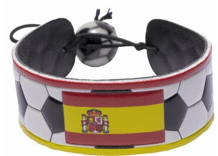 Spain Flag Classic Soccer Bracelet