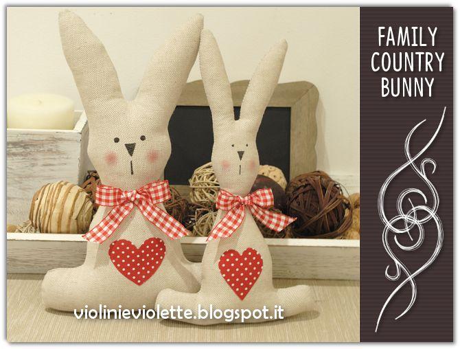 VIOLINI E VIOLETTE: family country bunny