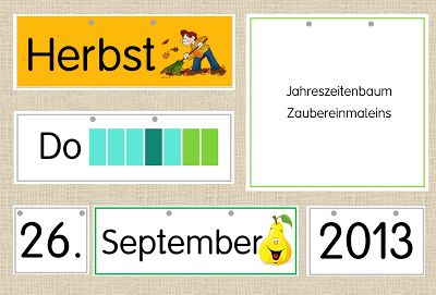 Frau Locke: Kalender fürs Klassenzimmer