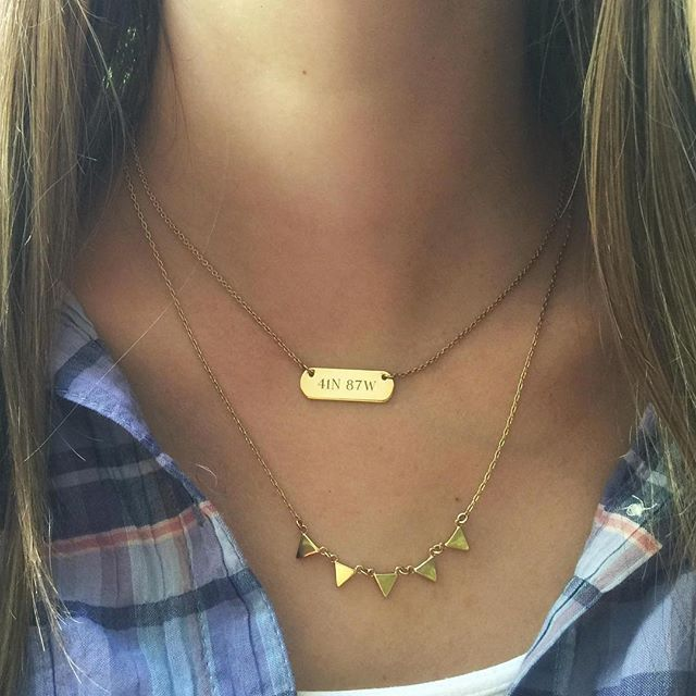 Need Now: Send your favorite high school grad off to college with a personalized necklace engraved with the coordinates of home. http://www.stelladot.com/angiehurlburt