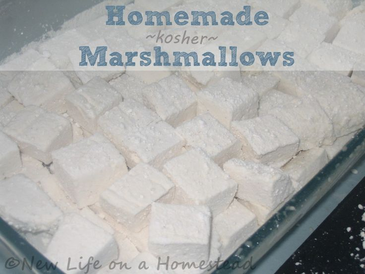 Homemade Marshmallows (Kosher)