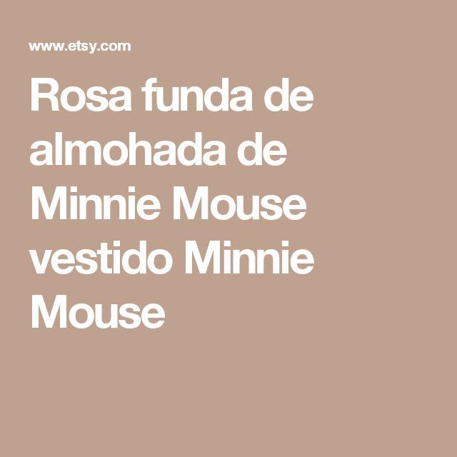 Rosa funda de almohada de Minnie Mouse vestido  Minnie Mouse