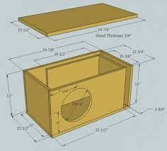 Kuvahaun tulos haulle subwoofer box design for 12 inch