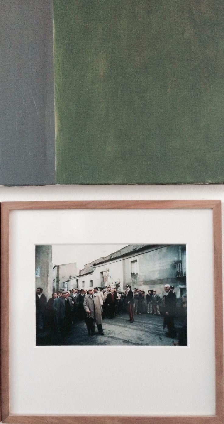 N.Art - Peter van der Velde via Wiet Hekking @WonderWood and a small piece of the painting by Koos Flinterman.