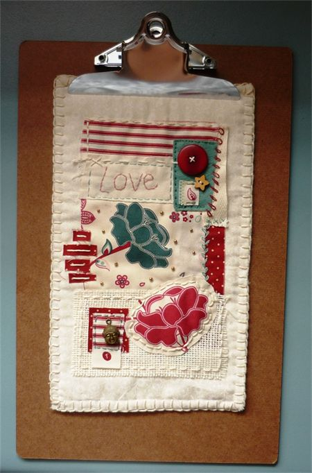 'Love' - unique, vintage-style, hand sewn mini quilt