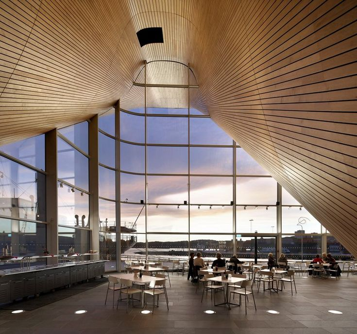 Kilden Performing Arts Centre, Kristiansand, 2012 - ALA Architects #windows #view #sunset #architecture