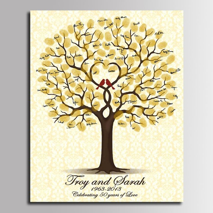 Firma libro de visitas diy decoración del partido de la boda boda de la huella digital del árbol pintura de la lona en 5 tamaño en Event & Party de Hogar y Jardín en AliExpress.com | Alibaba Group