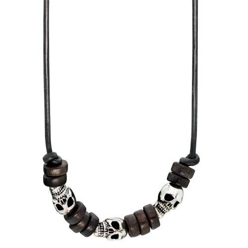Fred Bennett Leather Skull Necklace #Jewellery