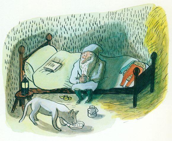 Ilustración de Kitty Crowther para la obra El gnomo no duerme, de Astrid Lindgren.