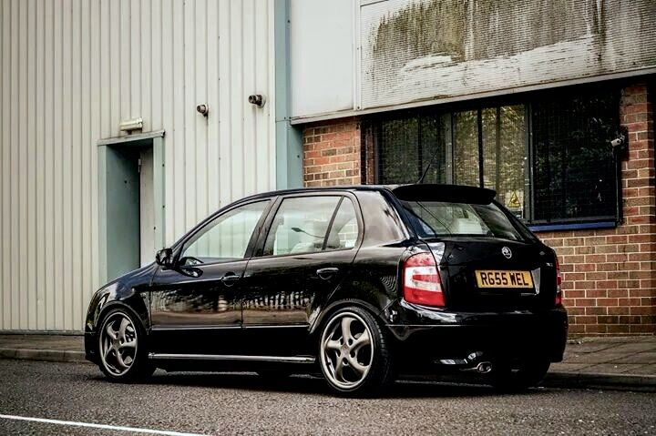 Skoda Fabia VRS on Porsche rims