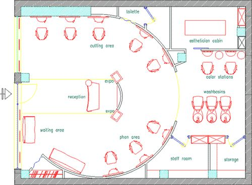 design a beauty salon floor plan – gurus floor