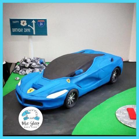 Custom Ferrari Car Cake