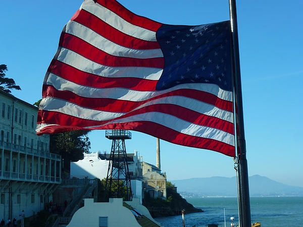 The flag that was flying on the boat which O took to Alcatraz Island. Want this picture printed on canvas or cards etc? Click on the image :)
