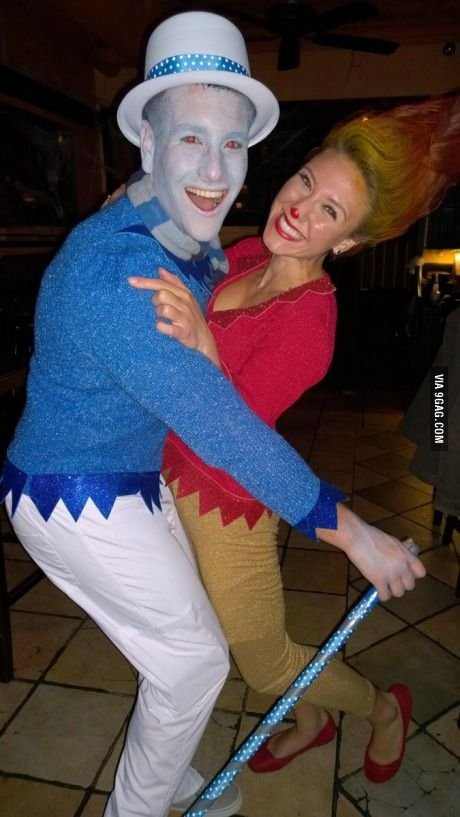 Snow miser and heat miser couples costume