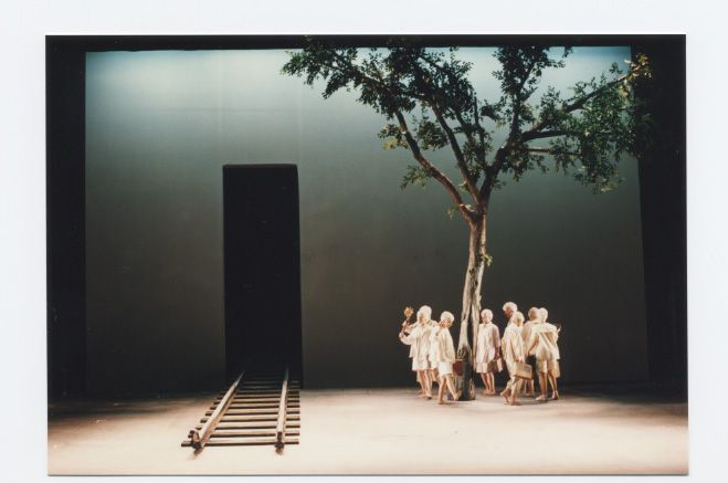 The Child Dreams - by Hanoch Levin, 1993, Habima, National theatre, Tel-Aviv Israel. Directed by Hanoch Levin, Set and Cosumes by Roni Toren, Lighting: Ben-Zion Munitz.