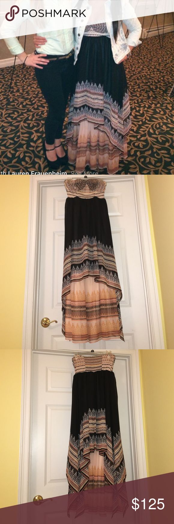 Free people strapless maxi dress worn once Free people strapless maxi dress worn once so versatile and beautiful!! Size xs Free People Dresses Maxi