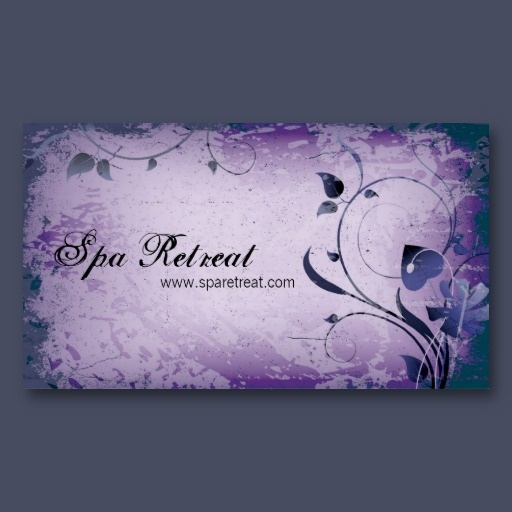 22 best elegant business cards images on pinterest elegant purple vintage spa retreat leafy business card your customers will be amazed by this beautiful reheart Choice Image