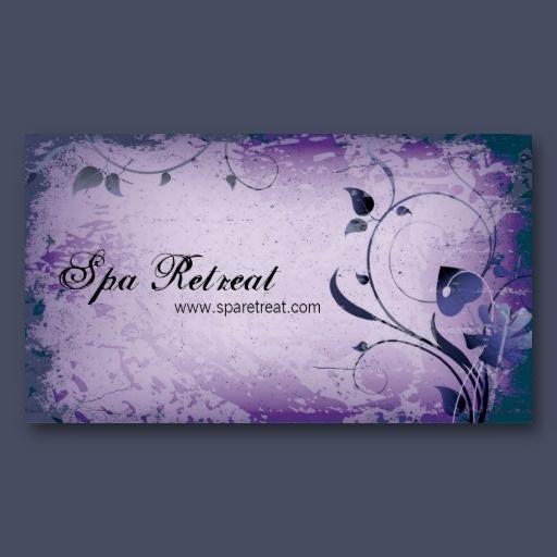 22 best elegant business cards images on pinterest elegant purple vintage spa retreat leafy business card reheart Choice Image