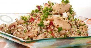 Receta de Ensalada de quinoa y bulgur con judiones