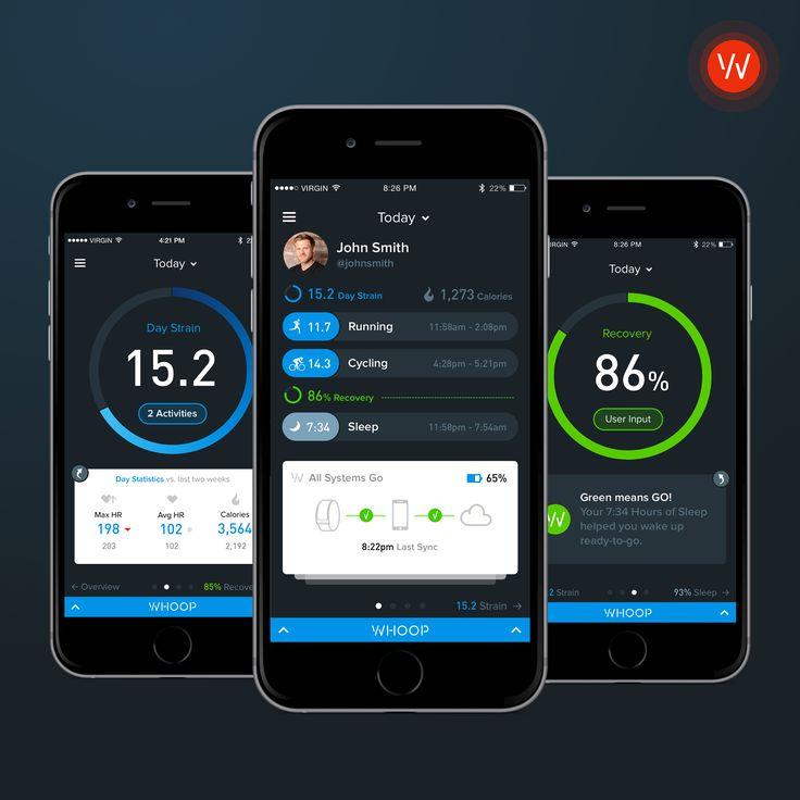 WHOOP App by Bureau Oberhaeuser