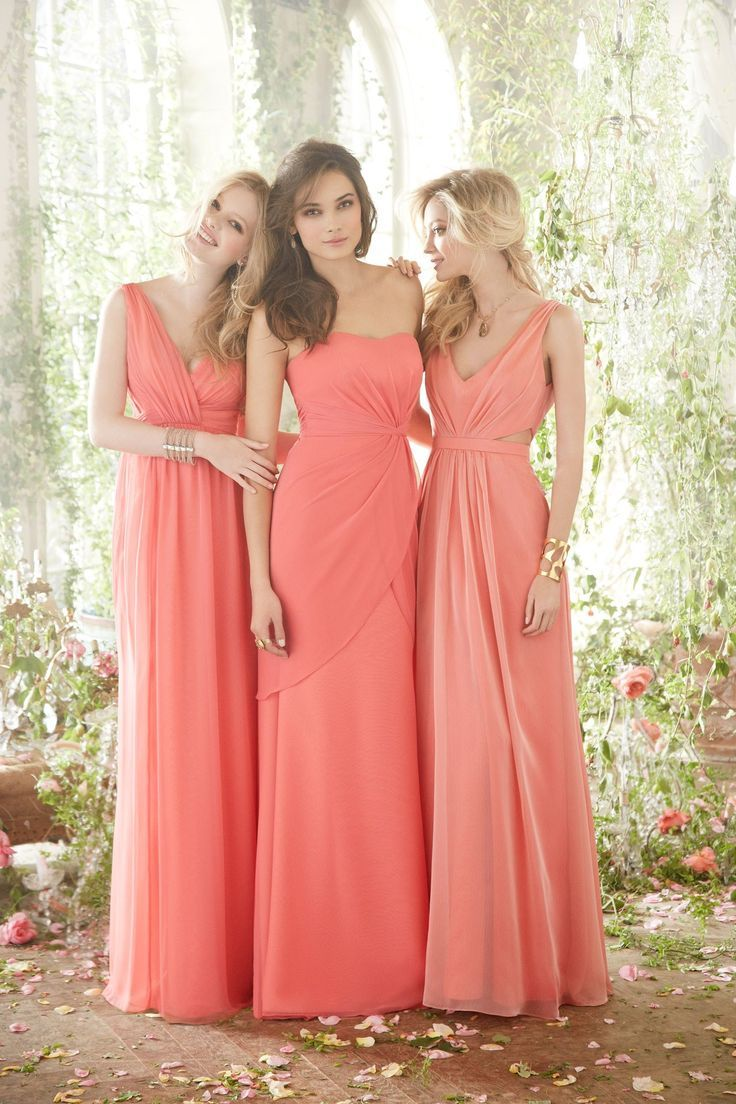 17 Best ideas about Coral Bridesmaid Dresses on Pinterest | Long ...