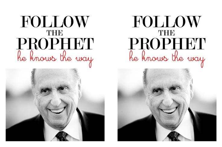 My Craft Journal: Follow the Prophet Handout