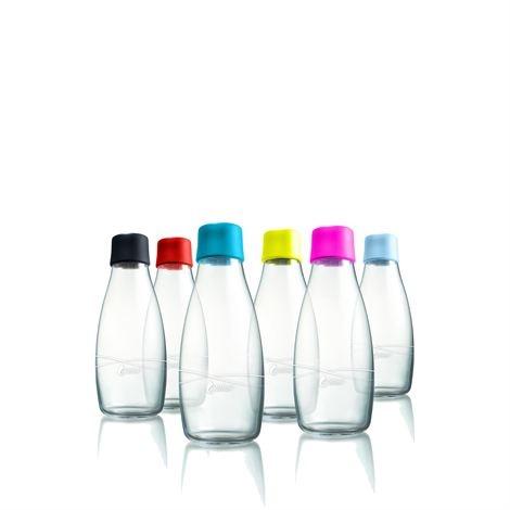 Stylová láhev na vodu z borosilikátového skla