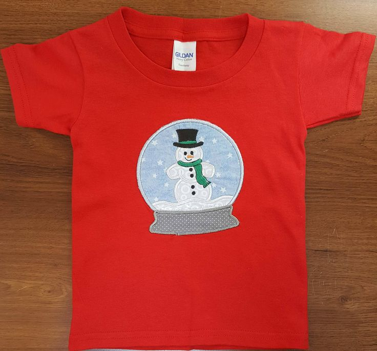 Snow Globe T Shirt, Snowman T Shirt, Chirstmas T Shirt, Winter, T Shirts, Kids Shirts, Kids Clothes, Childrens Clothing, Holiday shirts by LucysButtonBoutique on Etsy