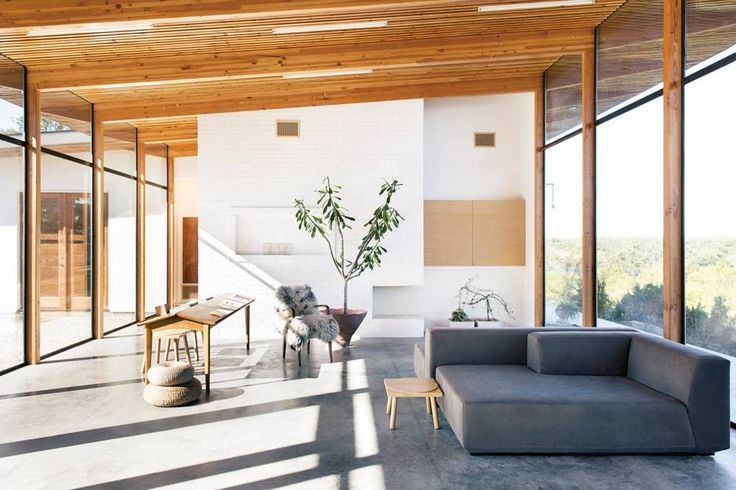 excess natural light in a perfectly modern, structural space.