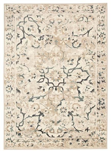 Add a stunning traditional pattern to your floors with the Caliente 327 Bone Multi Coloured Patterned Faded Traditional Rug