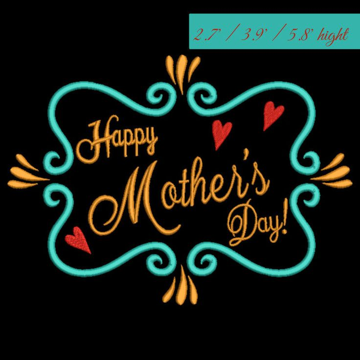 Happy Mother's day Embroidery Design Mom Machine Digital instant Download designs mom pes files toewl in the hoop spring mammy by SvgEmbroideryDesign on Etsy