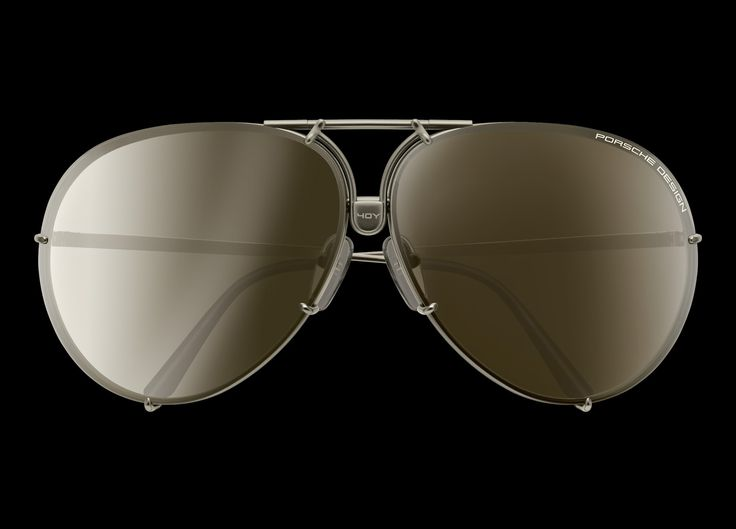 """Sunglasses P'8478 40Y : Porsche Design's """"exclusive glasses"""" of 1978. More than six million sold. Original reproduction with high-tech materials: Beta-titanium and polycarbonate. Original glasses case of 1978 is included."""