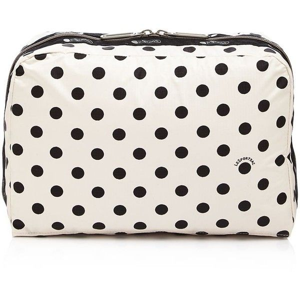 LeSportsac Extra Large Essential Cosmetic Case ($48) ❤ liked on Polyvore featuring beauty products, beauty accessories, bags & cases, sunshine dot cream, wash bag, make up bag, toiletry kits, dop kit and make up purse