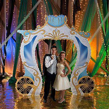Fairytale Gold Carriage Entrance Fairytale Party