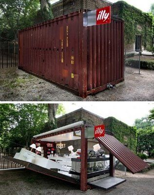 I want this in my back yard!  ILLY MOBILE COFFEE SHOP / TOTALLY AWESOME!!