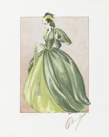 A Walter Plunkett limited edition portfolio of Gone With the Wind costume design prints