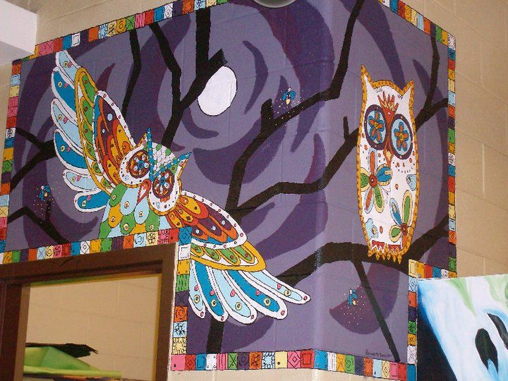 47 best mural ideas images on pinterest art walls for Day of the dead mural