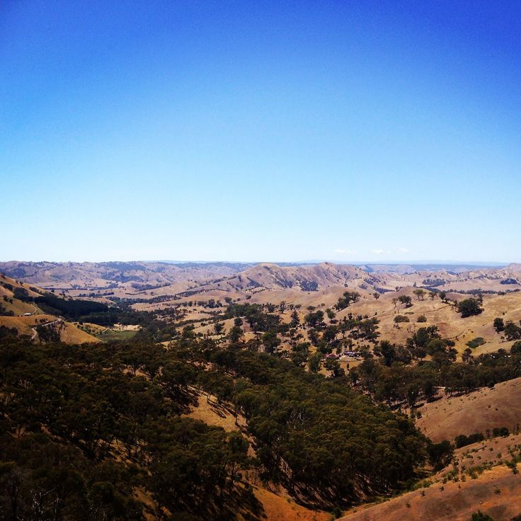 Just love the view from up on top of the world... or at least from the lookout at Murchison Gap. #visitheartofvic