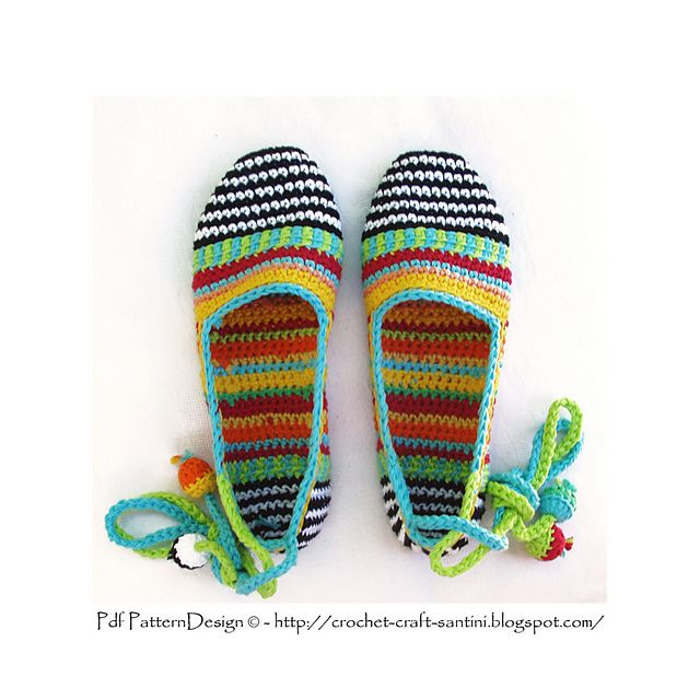 Ravelry: HAPPY SCRAP-SHOES - Basic Slipper Crochet Pattern pattern by Ingunn Santini