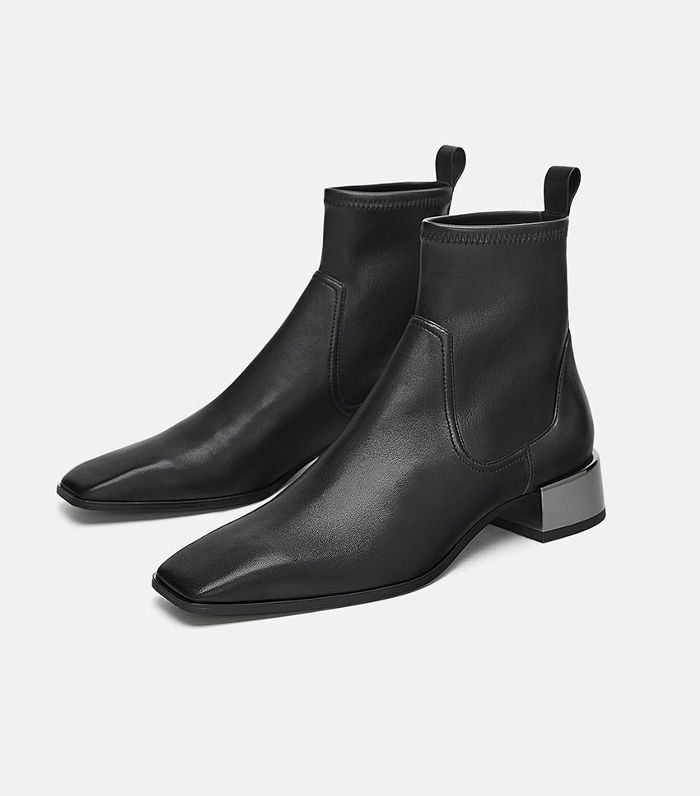 Low heel ankle boots, Leather ankle boots