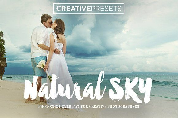 70 Natural Sky Overlays by CreativePresets.com on @creativemarket