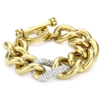 "Juicy Couture ""Luxe Rocks"" Pave Link Gold Bracelet  $98.00"
