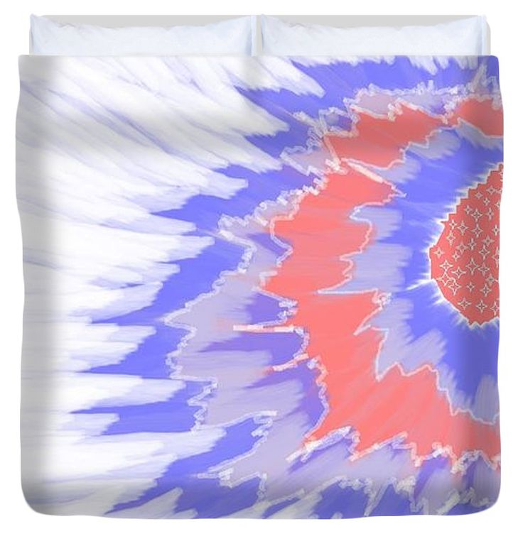 King Size Duvet Covers of 'Apricot Flower Abstract 2' by Sumi e Master Linda Velasquez.