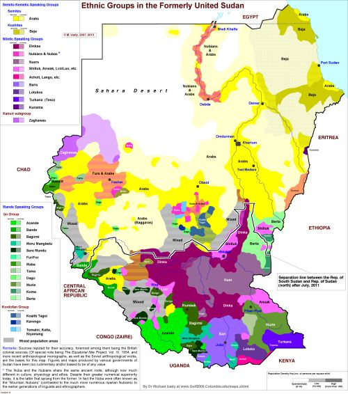 87 best etnikdil harita images on pinterest historical maps ethnic map of sudan and south sudan sciox Image collections