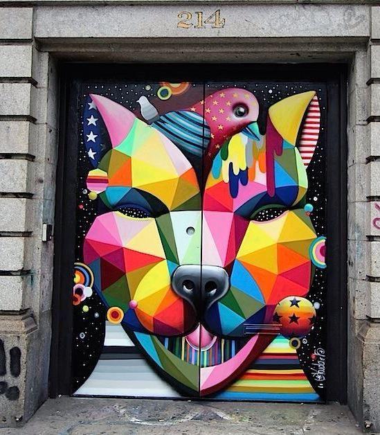 Street Art by OKUDART in Soho, NY   #art #arte #graffiti #streetart