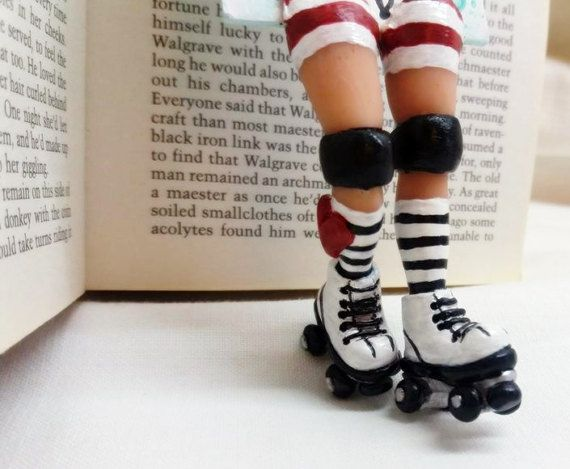 miniature elf // roller skates funny by bookmarkartypartisan