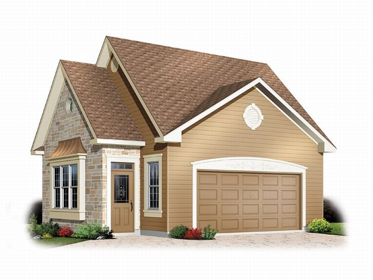Staggered gable ends, idea for extension. Really like this one for hubby's shop with a higher 10' door and 36-38' deep, move stairs to the left side so enter the door and can go straight upstairs. love the front of this and then behind can make the extension longer so the roof doesnt have to seem so high.