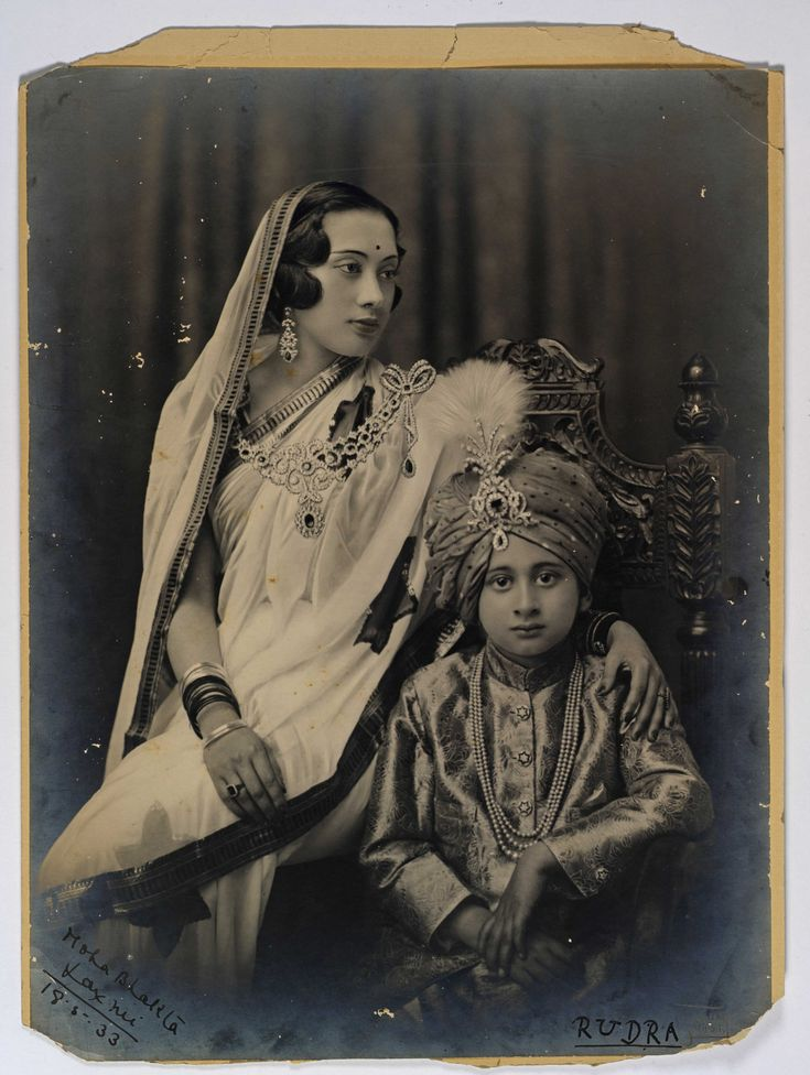 Mother & Son (labelled as Moha Bhakta Laxmi and Rudra, 18.5.1933)