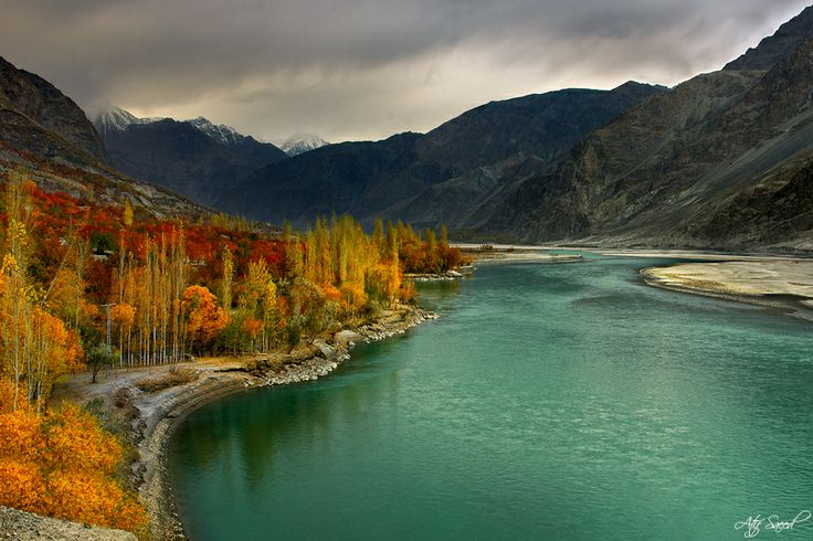 Shyok River, Khaplu, Skardu, Pakistan.